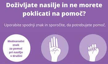 Poznate znak za pomoč pri nasilju v družini?